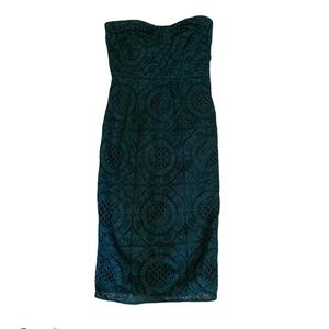 BURBERRY LONDON Strapless Turquoise Dress!